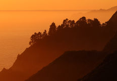 Costa di Big Sur, vicino a Monterey, California, U.S.A. Fotografie Stock Libere da Diritti