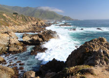 Costa di Big Sur, vicino a Monterey, California, U.S.A. Fotografia Stock Libera da Diritti