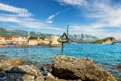 Costa di Budua montenegro Fotografia Stock