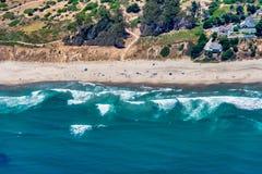 Costa di California vicino alla città di Aptos fotografia stock libera da diritti