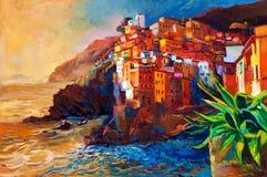 Costa di Cinque Terre Fotografie Stock Libere da Diritti