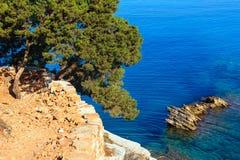 Costa di estate del Mar Ionio, Albania immagini stock