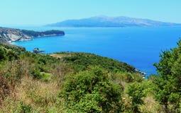 Costa di estate del Mar Ionio, Albania fotografia stock libera da diritti