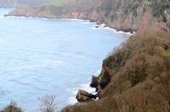 Costa di Exmoor Fotografia Stock