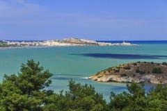 Costa di Gargano: baia di Vieste - & x28; Apulia& x29; L'ITALIA Fotografie Stock Libere da Diritti