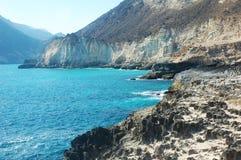 Costa di golfo dell'Oman Fotografie Stock Libere da Diritti