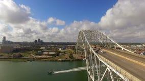 Costa di golfo di giro del ponte di Manica il Texas del sud stock footage