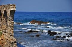 Costa di Halkidiki - Agios Oros Fotografia Stock Libera da Diritti