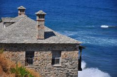 Costa di Halkidiki - Agios Oros Immagine Stock Libera da Diritti