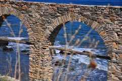 Costa di Halkidiki - Agios Oros Sveta Gora Fotografia Stock Libera da Diritti