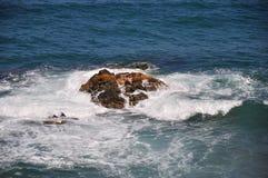 Costa di Halkidiki - Agios Oros Sveta Gora immagini stock libere da diritti