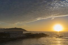 Costa di La Coruna, Spagna Immagini Stock
