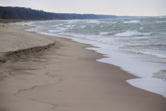 Costa di lago Michigan Immagine Stock Libera da Diritti