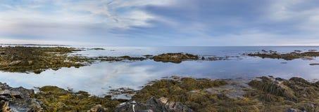 Costa di Maine al tramonto Immagini Stock Libere da Diritti