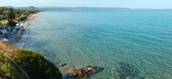 Costa di mar Egeo Chalkidiki, Grecia Immagine Stock