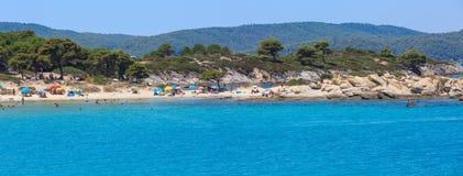 Costa di mar Egeo Chalkidiki, Grecia Fotografie Stock