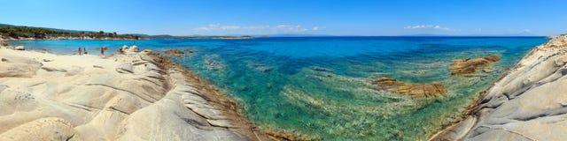 Costa di mar Egeo Chalkidiki, Grecia Fotografia Stock