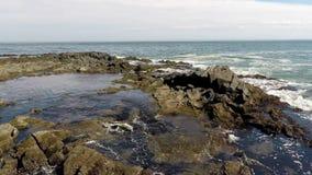 Costa di mare con la guarnizione video d archivio