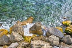 Costa di mare della roccia Immagine Stock Libera da Diritti
