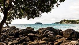 Costa di mare delle Andamane Fotografie Stock
