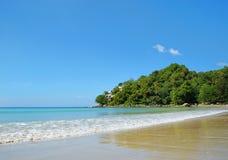Costa di mare delle Andamane vicino al villaggio di Kamala Fotografia Stock