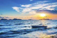 Costa di mare di sera Fotografia Stock Libera da Diritti