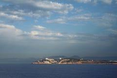 Costa di mare e città Salou Tarragona, Spagna Fotografie Stock