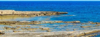 Costa di mare di estate della Sicilia, Italia Fotografia Stock Libera da Diritti