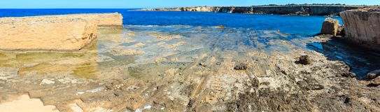Costa di mare di estate della Sicilia, Italia Fotografia Stock