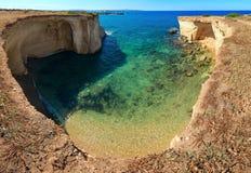 Costa di mare di estate della Sicilia, Italia Fotografie Stock