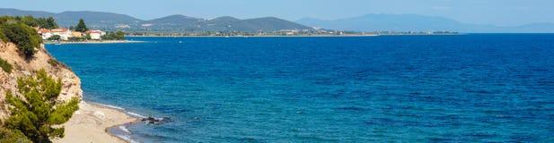 Costa di mare di estate Halkidiki, Grecia Fotografie Stock