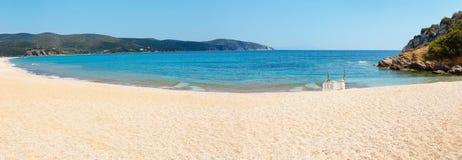 Costa di mare di estate Halkidiki, Grecia Fotografia Stock Libera da Diritti