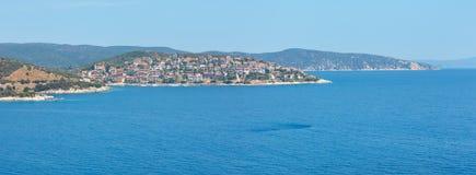 Costa di mare di estate Halkidiki, Grecia Fotografia Stock