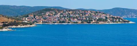 Costa di mare di estate Halkidiki, Grecia Immagine Stock Libera da Diritti