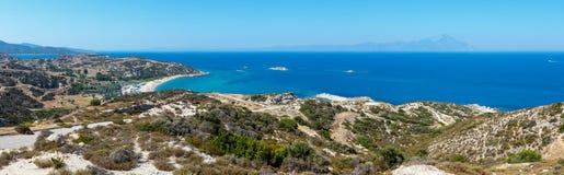 Costa di mare di estate Sithonia, Grecia Fotografie Stock Libere da Diritti