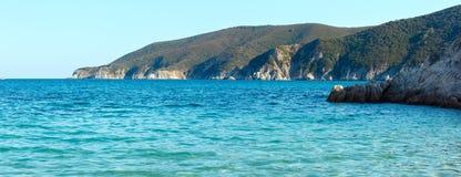 Costa di mare di estate Sithonia, Grecia Fotografia Stock