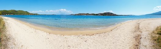 Costa di mare di estate Sithonia, Grecia Fotografie Stock