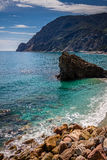 Costa di mare, giumenta di Al di Monterosso, Cinque Terre, Italia Immagine Stock
