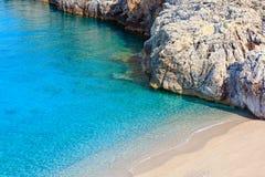 Costa di mare ionico di estate, Albania fotografie stock