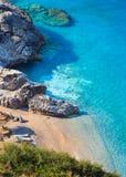 Costa di mare ionico di estate, Albania immagini stock libere da diritti