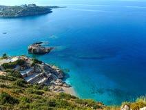 Costa di mare ionico di estate, Albania immagini stock
