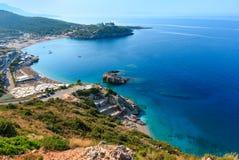 Costa di mare ionico di estate, Albania fotografie stock libere da diritti