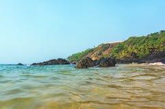 Costa di mare ionico di estate di mattina immagini stock libere da diritti
