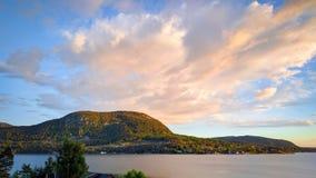 Costa di mare a Jorpeland, Norvegia fotografia stock libera da diritti