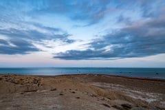 Costa di mare nel tempo uguagliante fotografia stock