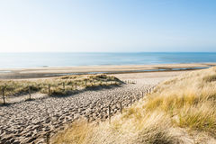 Costa di mare in Noordwijk, Paesi Bassi, Europa Fotografia Stock Libera da Diritti