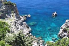 Costa di mare di Paleokastritsa immagine stock libera da diritti