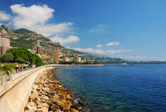 Costa di mare variopinta nel Monaco Fotografie Stock