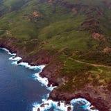 Costa di Maui e la strada principale di Kahekili Immagine Stock