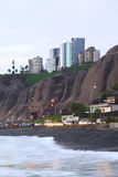 Costa di Miraflores, Lima, Perù Immagini Stock